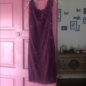 Plum colored Adrianna Papell dress